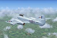 Screenshot of Gloster Meteor T7 WG979 in flight.