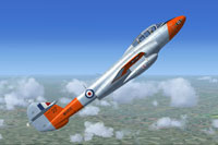 Screenshot of Gloster Meteor T7 WH166 in flight.
