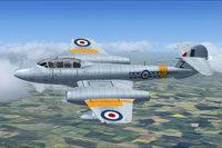 Screenshot of Gloster Meteor T7 WH224 in flight.