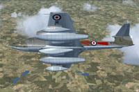 Screenshot of Gloster Meteor WL265 in flight.