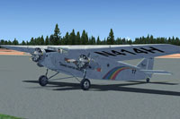 Screenshot of Grand Canyon Airlines Ford Tri-Motor on the ground.