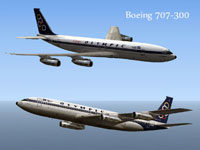 Image showing two liveries for Greek Boeing 707-300.