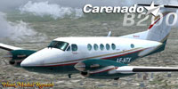 Screenshot of Green Beechcraft B200 King Air in flight.