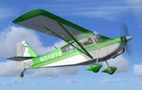 Screenshot of Green Citabria N31272 in flight.