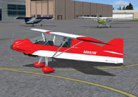 Screenshot of Green Sky Adventures Zippy Sport on the ground.