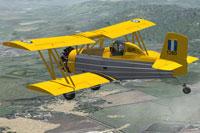 Screenshot of Grumman G-164A AgCat Crop Duster in flight.