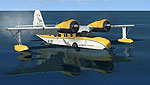 A Grumman Goose sitting on the water.