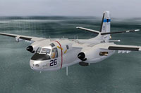 Screenshot of Grumman S2 Turbo in flight.