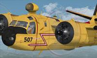"Screenshot of Canadian ""Maritime Patrol"" Grumman in flight."