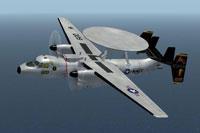 Screenshot of Grumman US Navy E-2C Hawkeye VAW-125 in flight.