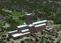 Screenshot of Guildford Cathedral.