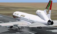 Screenshot of Gulf Air Lockheed L-1011 Tri-Star on runway.