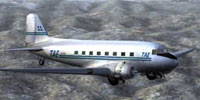 Screenshot of National Greek Airlines C-47 in flight.