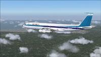 Screenshot of HJG El Al Boeing 707 in flight.