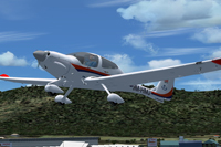 Screenshot of HM Aerospace DA40 TDI Diamond Star in flight.