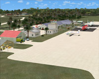 Aerial view of Hanan International Airport scenery.