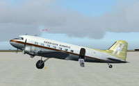 Screenshot of Harrison Airways Douglas DC-3 on the ground.