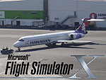 Splash Screen using a photo of Hawaiian Airlines 717-200.