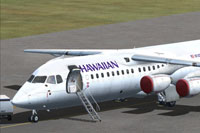Screenshot of Hawaiian Airlines BAe 146-300 on the ground.