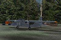 Hawkair Bristol 170 Freighter Mk31 on the ground.