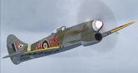 Screenshot of Hawker Tempest VI in flight.