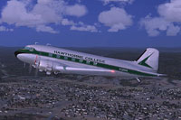 Screenshot of Hawthorne College Douglas DC-3 in flight.