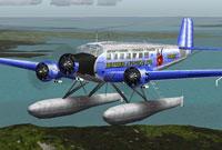 Screenshot of Heather Aviation Ltd. Ju52 with floats.