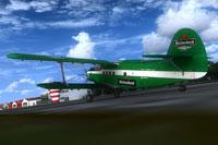 Screenshot of Heineken Antonov An-2 Colt on runway.