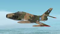 Screenshot of Hellenic Air Force Republic F-84F in flight.