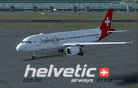 Screenshot of Helvetic Airways Airbus A320-200 on the ground.