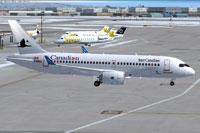 Screenshot of Bombardier FTV1 CSeries 100 on the ground.
