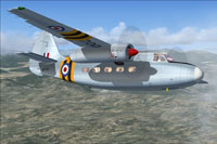 Screenshot of Hunting Pembroke C1 WV700 in flight.