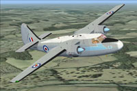 Screenshot of Hunting Pembroke C1 XK884 in flight.
