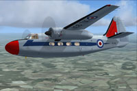 Screenshot of Hunting Pembroke C1 XL931 in flight.