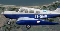 Screenshot of IACA Flight School Piper in flight.