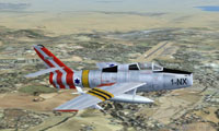 Screenshot of IAF Republic F-84 in flight.