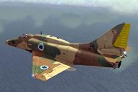 Screenshot of IDF A-4E/F in flight.