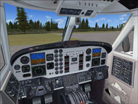 Screenshot of ISDT Beech King Air B200 cockpit.