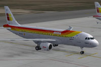 Screenshot of Iberia Airbus A320 on the ground.