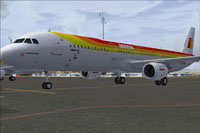 Screenshot of Iberia Airbus A321 on the ground.