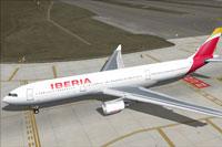 Screenshot of Iberia Airbus A330-302 taxiing to runway.
