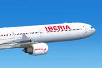 Screenshot of Iberia Airbus A340-642 in flight.