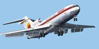 Screenshot of Iberia Boeing 727-200 (OC) in the air.