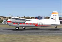 Screenshot of Iberia Bristol 170 MK31-E on runway.
