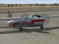 Screenshot of Iberia Bristol 170 Mk. 21 on the ground.