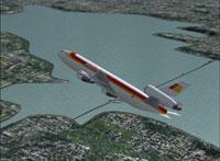 Screenshot of Iberia Douglas DC-10 in flight.