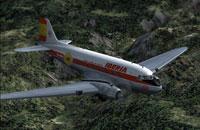 Screenshot of Iberia Douglas DC-3 in flight.