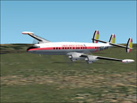 Screenshot of Iberia Lockheed 1049G in flight.