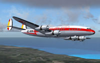 Screenshot of Iberia Lockheed L1049E Constellation in flight.