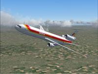 Screenshot of Iberia McDonnell Douglas MD-11 in flight.